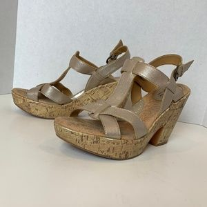BOC Born gold metallic heeled sandals 9